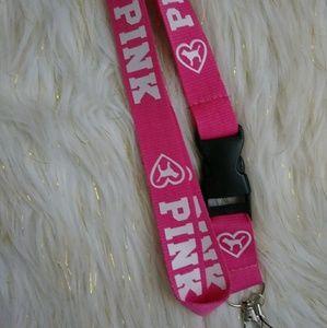 Pink lanyard